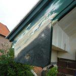 Timmer- en schilderwerken windveren dak - voor reparatie